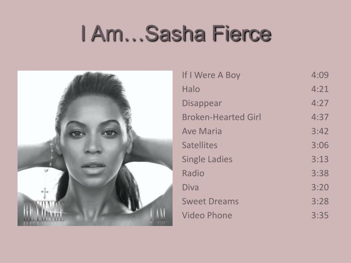 I am sasha fierce