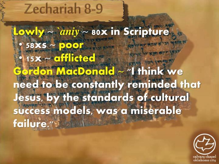 Zechariah 8-9