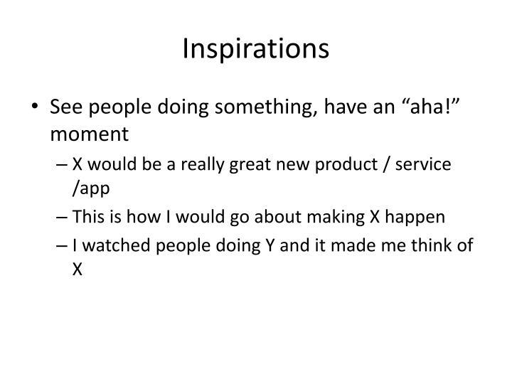 Inspirations