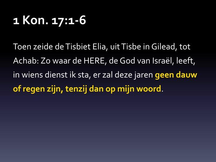 1 Kon. 17:1-6
