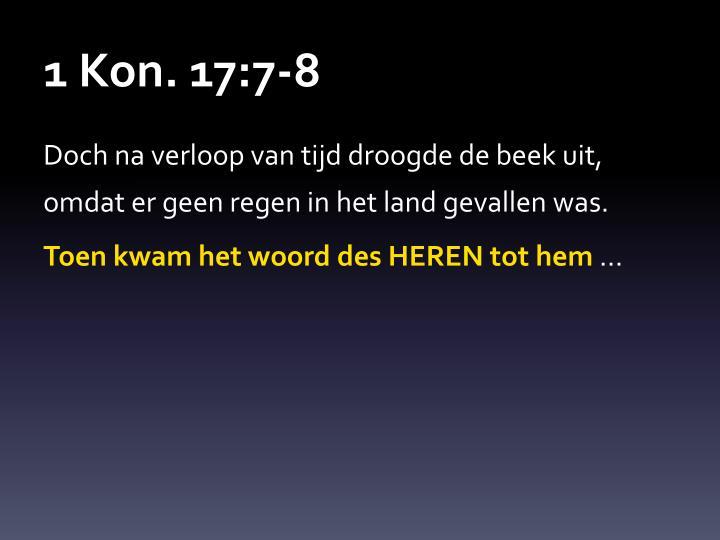 1 Kon. 17:7-8