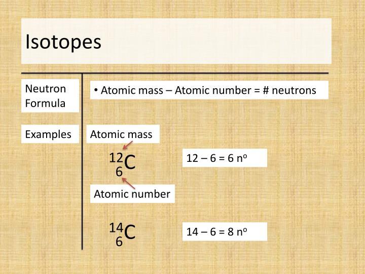 Neutron Formula