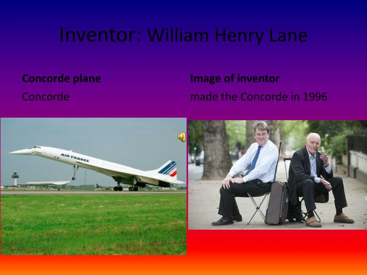 Inventor william henry lane