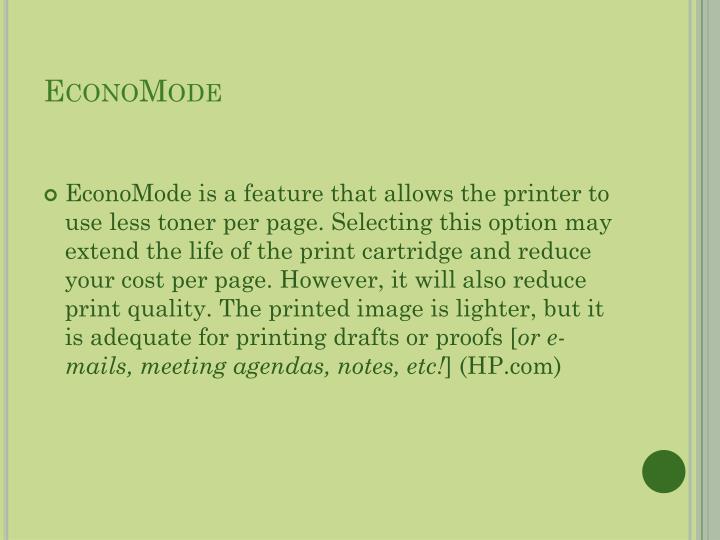 EconoMode
