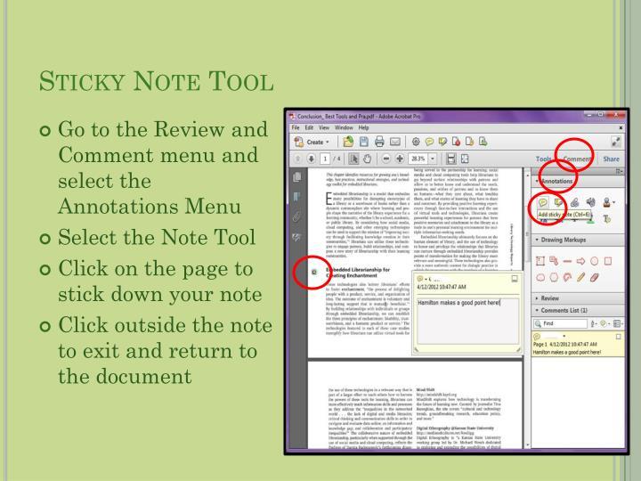 Sticky Note Tool