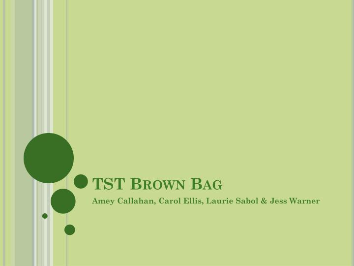 Tst brown bag