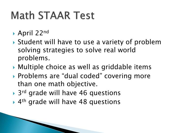 Math STAAR Test