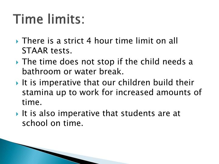 Time limits: