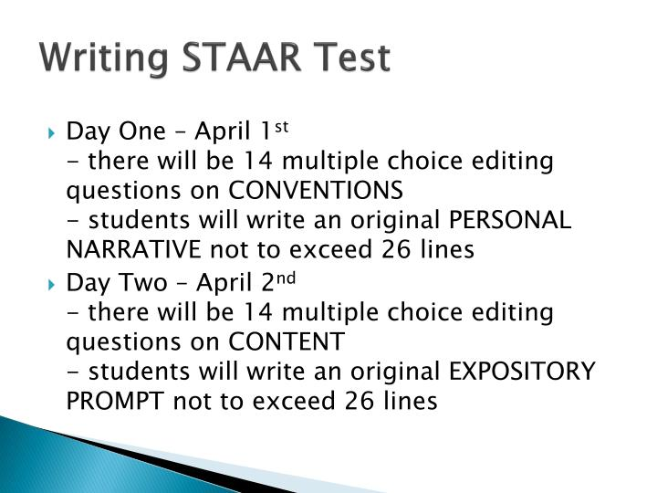 Writing STAAR Test