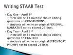 writing staar test