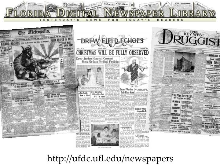 http://ufdc.ufl.edu/newspapers