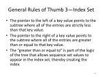 general rules of thumb 3 index set