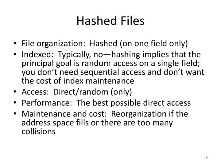 Hashed Files