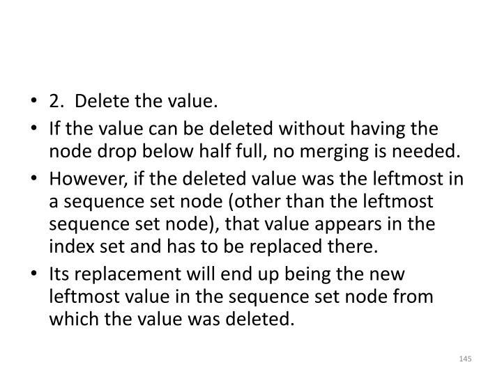 2.  Delete the value.