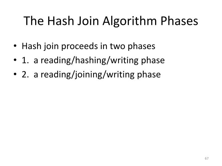 The Hash Join Algorithm Phases