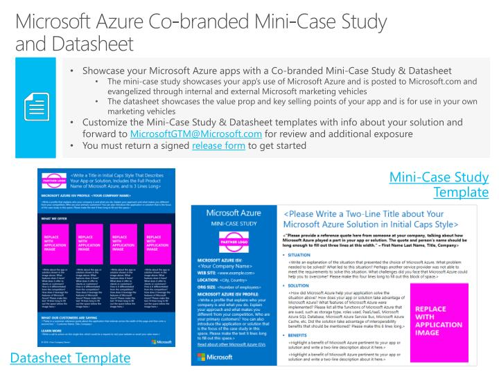 Microsoft azure co branded mini case study and datasheet