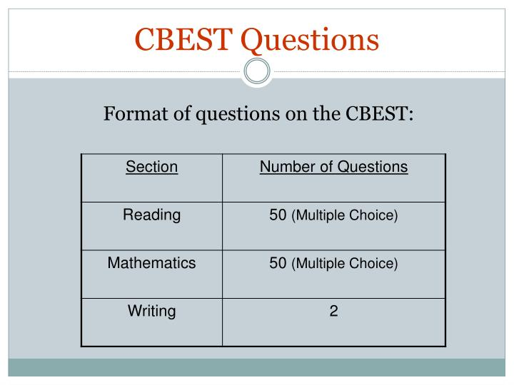 CBEST Questions