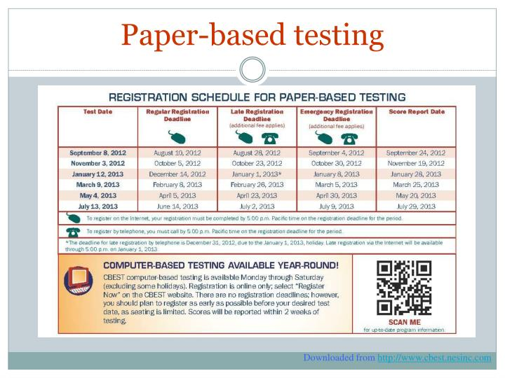 Paper-based testing