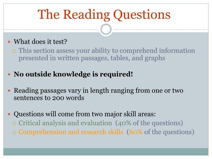 The Reading Questions