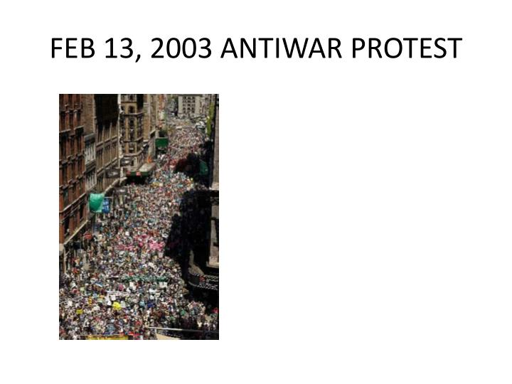 FEB 13, 2003 ANTIWAR PROTEST