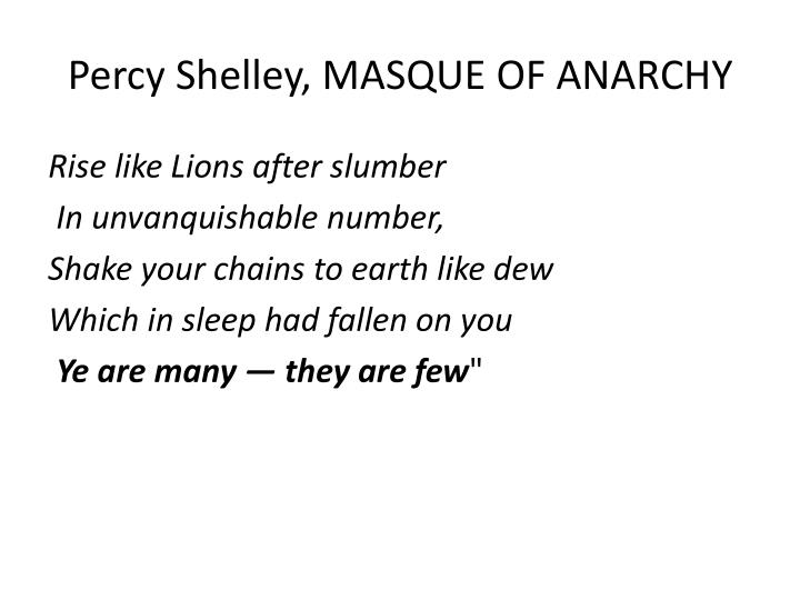 Percy Shelley, MASQUE OF ANARCHY