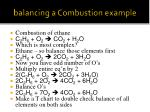 balancing a combustion example