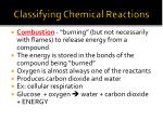 classifying chemical reactions1