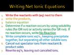 writing net ionic equations1
