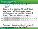 binary search example 2 con t