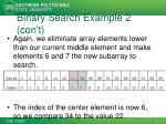 binary search example 2 con t2
