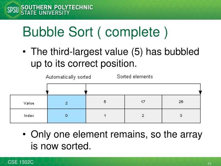 Bubble Sort ( complete )
