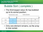 bubble sort complete