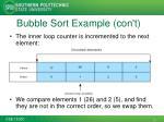 bubble sort example con t
