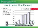 how to insert one element6