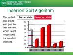 insertion sort algorithm1