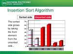 insertion sort algorithm2