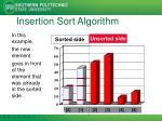 insertion sort algorithm4