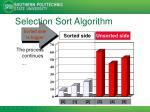 selection sort algorithm9