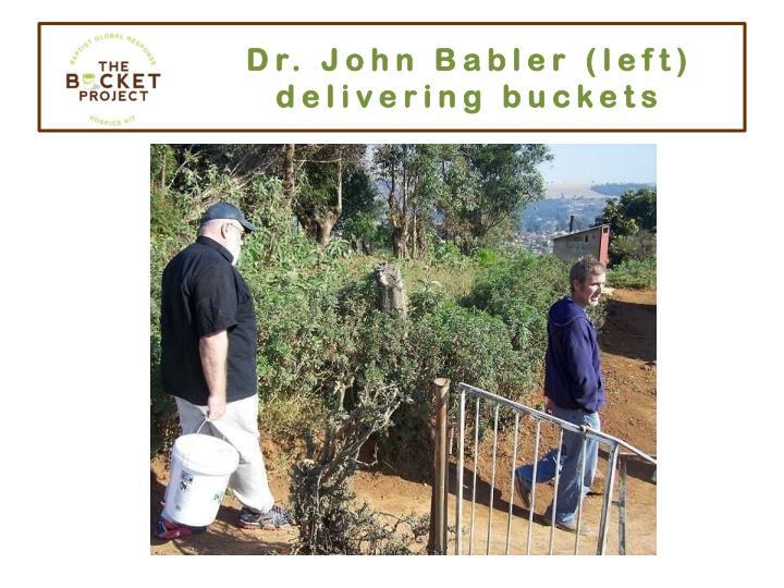 Dr. John Babler (left)