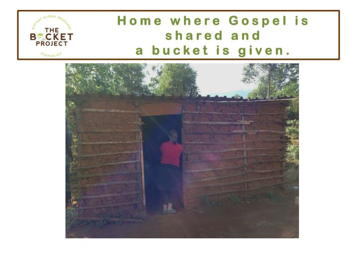 Home where Gospel is shared and