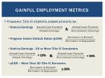 gainful employment metrics