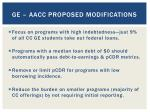 ge aacc proposed modifications