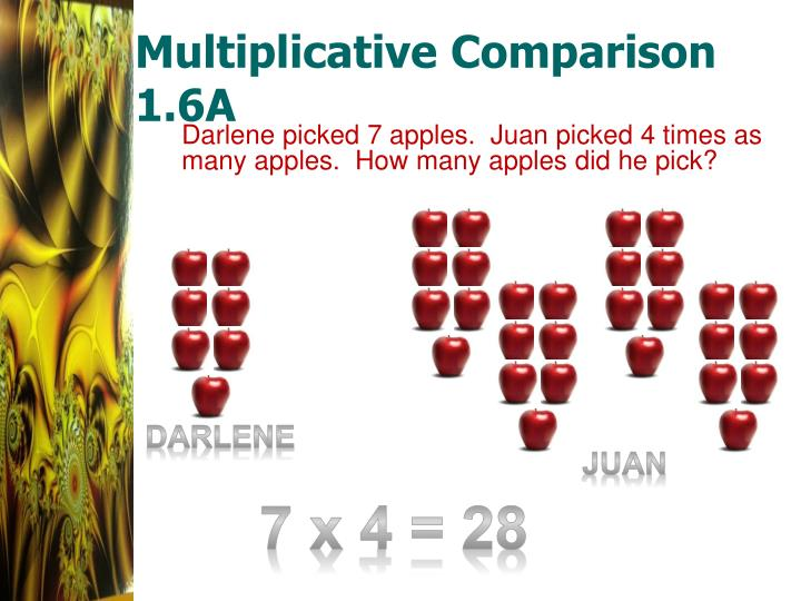 Multiplicative comparison 1 6a