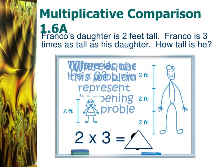 Multiplicative comparison 1 6a1