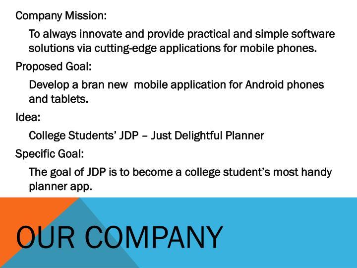 Company Mission: