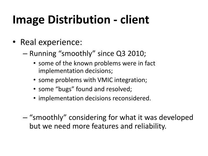 Image Distribution - client