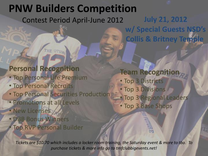 Pnw builders competition contest period april june 2012