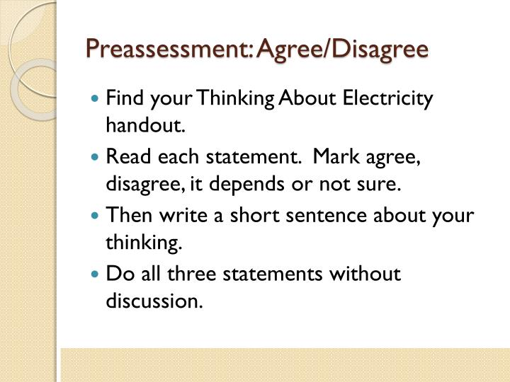 Preassessment