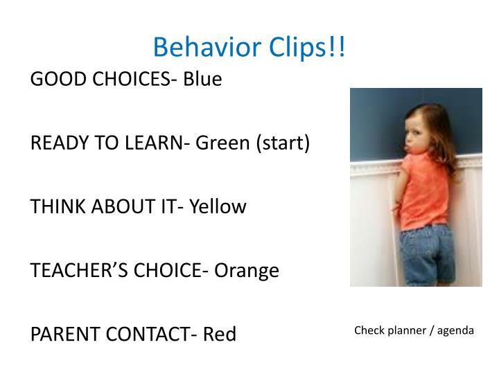 Behavior Clips!!