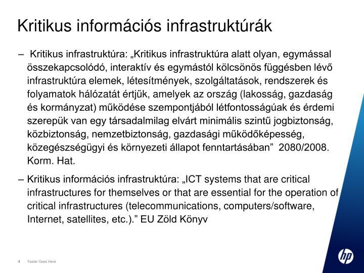 Kritikus információs infrastruktúrák